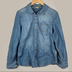 Boden Chambray Button Down Collared Shirt